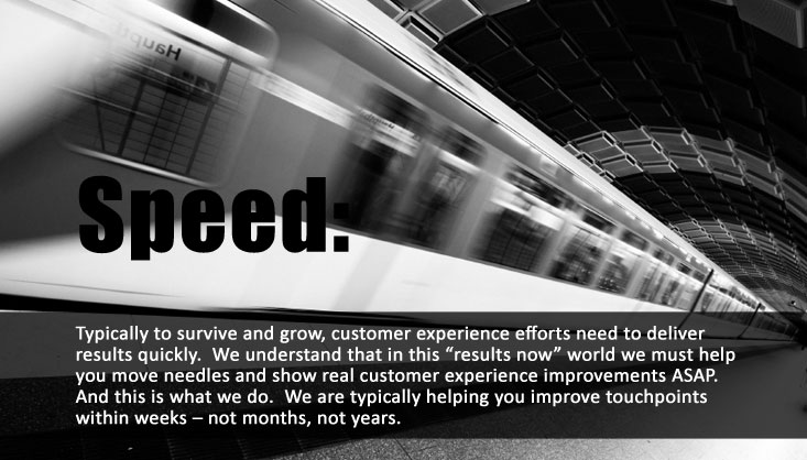 Speed-customer-experience